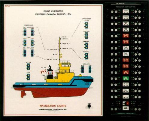 20 X 25 Inch (510 X 635 Mm) Mimic With Integral Type 8012 Navigation Light  ...
