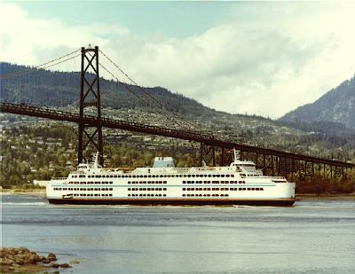 C-Class vessel in first narrows