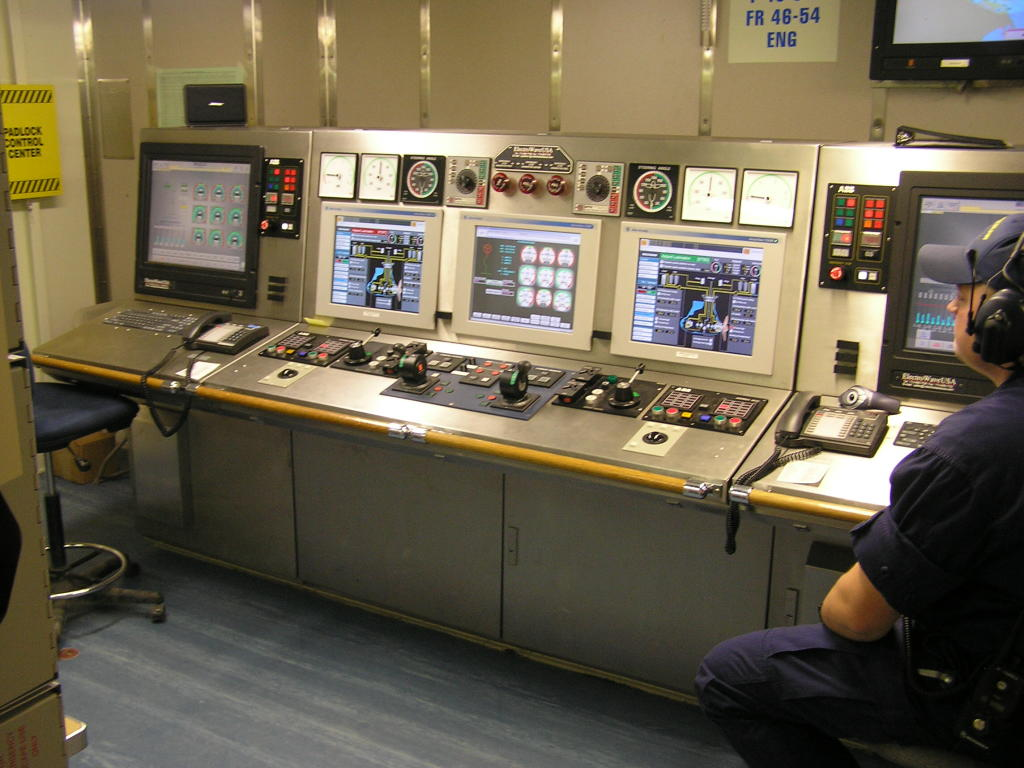Engine Control Console : Uscg mackinaw